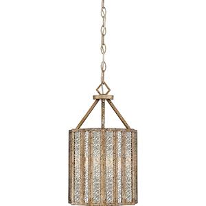 Shrine Aged Gold Three-Light Pendant