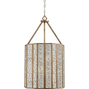 Shrine Aged Gold Six-Light Pendant
