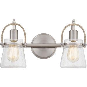 Stafford Brushed Nickel Two-Light Bath Vanity