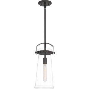 Stella Western Bronze 7-Inch One-Light Mini Pendant with Clear Glass