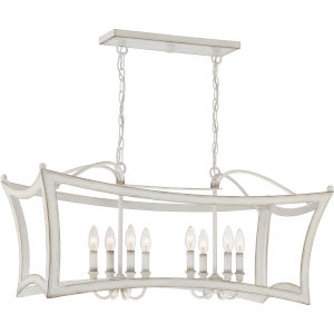 Summerford Antique White Eight-Light Island Chandelier