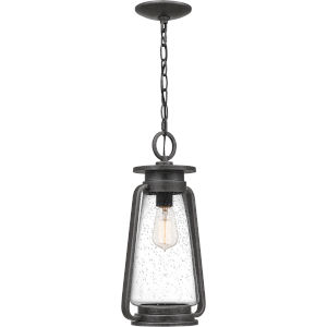 Sutton Speckled Black One-Light Outdoor Pendant