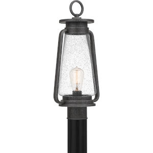 Sutton Speckled Black One-Light Outdoor Post Mount