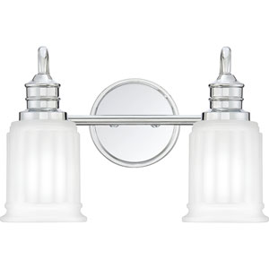 Swell Polished Chrome Two-Light Bath Vanity