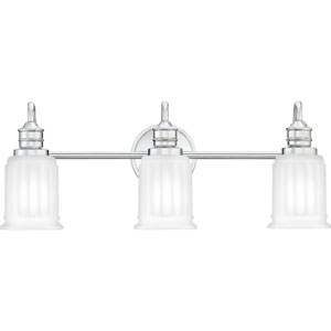 Swell Polished Chrome Three-Light Bath Vanity