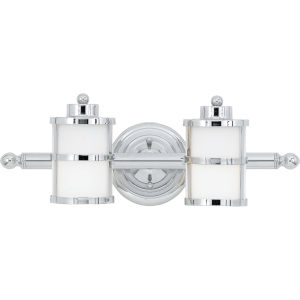 Tranquil Bay Polished Chrome Two-Light Bath Fixture