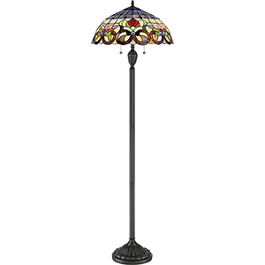 Tiffany Vintage Bronze 62-Inch Two-Light Floor Lamp