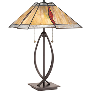 Quoizel Tiffany Western Bronze One Light Table Lamp Twt Bellacor