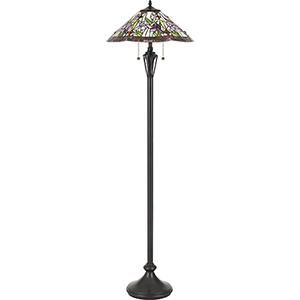 Tiffany Vintage Bronze 63-Inch Two-Light Floor Lamp