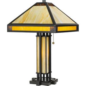 Severance Vintage Bronze Three-Light Table Lamp