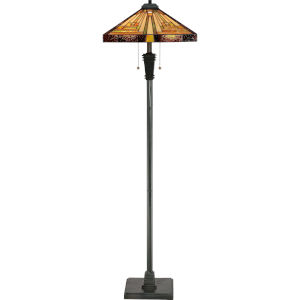 Stephen Vintage Bronze Two-Light Floor Lamp