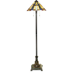 Inglenook Valiant Bronze Two-Light Floor Lamp