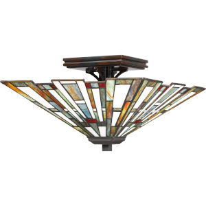 Maybeck Valiant Bronze Two-Light Flush Mount