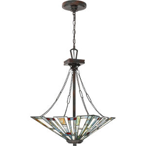 Maybeck Valiant Bronze Three-Light Pendant
