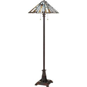 Maybeck Valiant Bronze Two-Light Floor Lamp