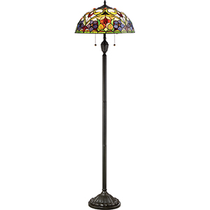 Violets Vintage Bronze Two-Light Floor Lamp