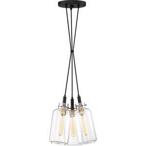 Teagan Earth Black 11-Inch Three-Light Pendant
