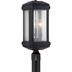 Trumbull Mystic Black 21.5-Inch Height Three-Light Outdoor Post Mounted