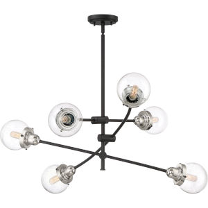 Trance Earth Black Six-Light Chandelier