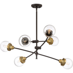 Trance Western Bronze Six-Light Chandelier