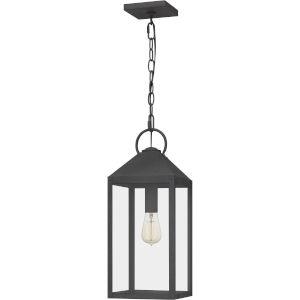 Thorpe Mottled Black One-Light Outdoor Pendant