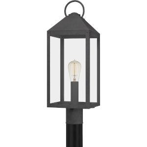 Thorpe Mottled Black One-Light Outdoor Post Mount