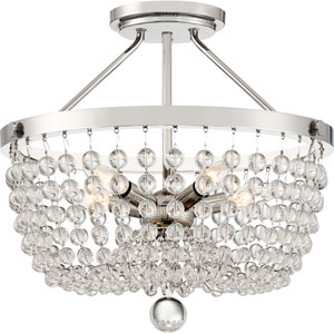 Teresa Polished Nickel Five-Light Semi-Flush Mount