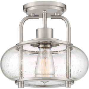 Trilogy Brushed Nickel One-Light Semi Flush Mount