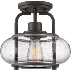 Trilogy Old Bronze One-Light Semi Flush Mount