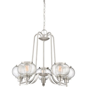 Trilogy Brushed Nickel Five-Light Chandelier