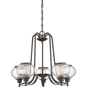 Trilogy Old Bronze Five-Light Chandelier