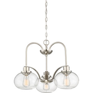 Trilogy Brushed Nickel Three-Light Dinette Chandelier