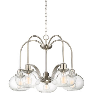 Trilogy Brushed Nickel Five-Light Dinette Chandelier