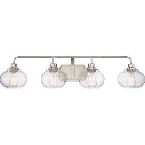 Trilogy Brushed Nickel Four-Light Bath Light