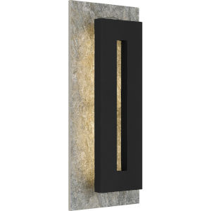 Tate Earth Black 18-Inch LED Outdoor Wall Mount