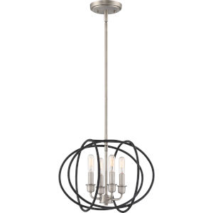 Tupelo Matte Black Four-Light Pendant