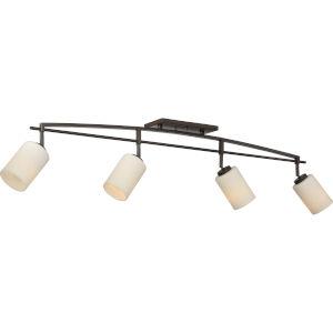 Taylor Western Bronze Four-Light Ceiling Track Lights
