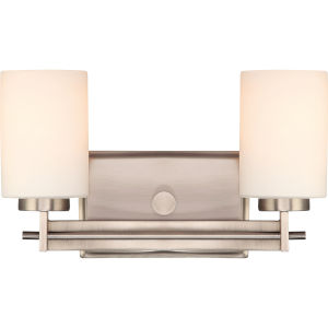 Taylor Antique Nickel Two-Light Bath Light