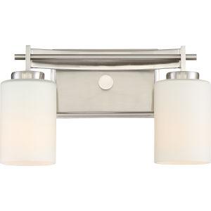 Taylor Brushed Nickel Two-Light Vanity