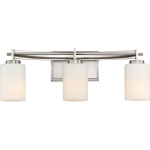 Taylor Brushed Nickel Three-Light Vanity