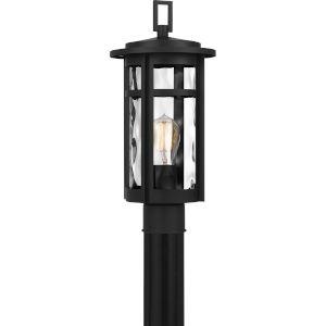 Uma Matte Black One-Light Outdoor Post Mount