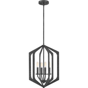 Vanguard Old Black 15-Inch Four-Light Pendant