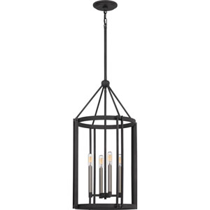 Victor Mottled Black Four-Light Chandelier