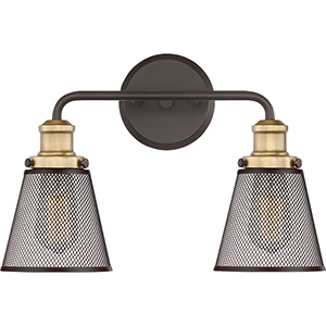 Vault Western Bronze Two-Light Bath Vanity