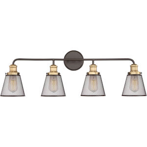 Vault Western Bronze Four-Light Bath Vanity