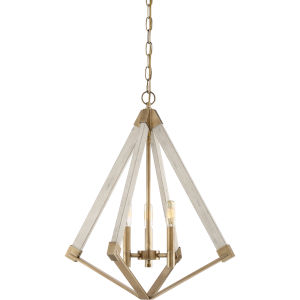 View Point Weathered Brass Three-Light Pendant