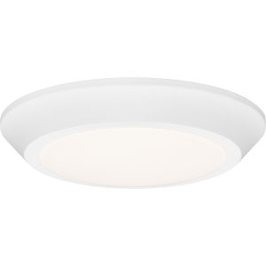 Verge White Lustre LED Flush Mount