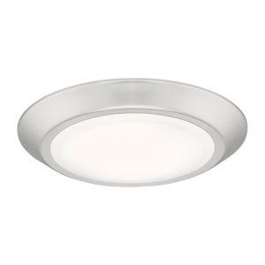Verge Brushed Nickel Eight-Inch LED Flush Mount
