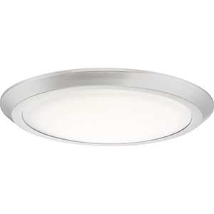 Verge Brushed Nickel 16-Inch LED Flush Mount