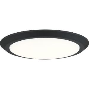 Verge Earth Black 16-Inch LED Flush Mount with White Acrylic Shade